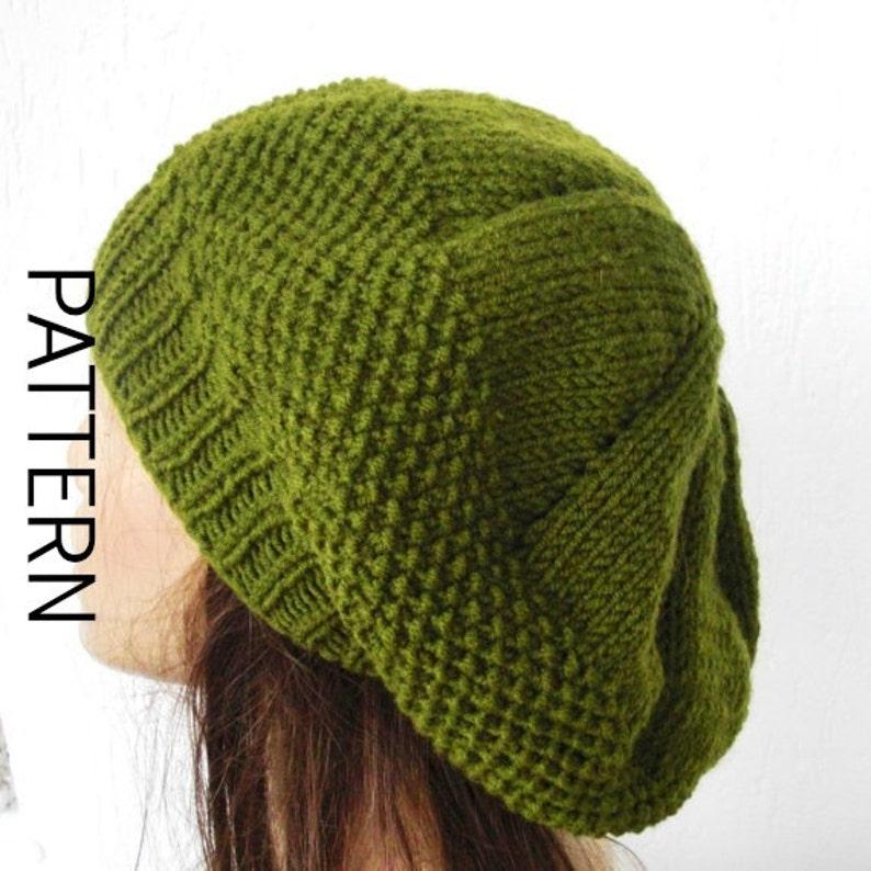 Knit hat pattern for Women PDF Women Knit hat pattern Digital  10aebd65ed6