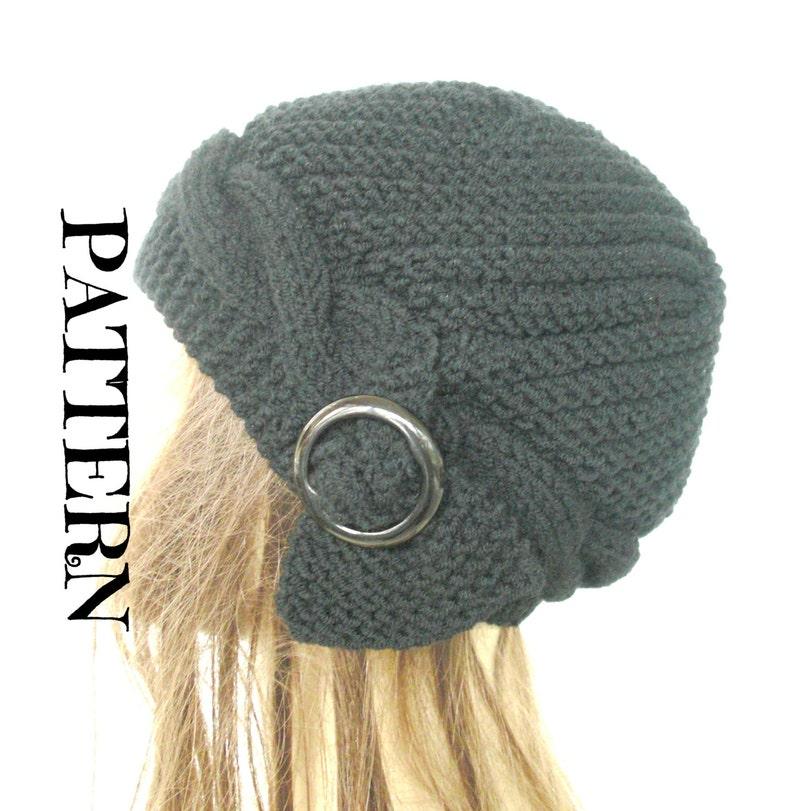 d2991578d2c PATTERN PDF Digital Hat Knitting Instant Download Knit hat