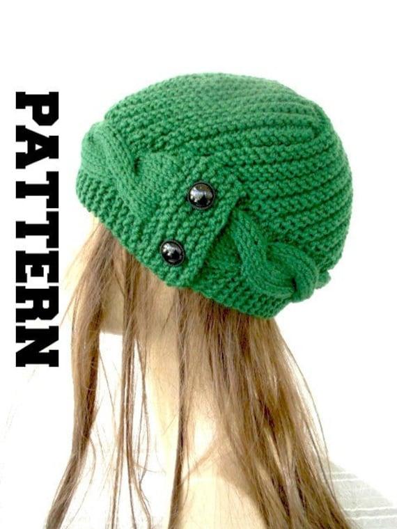 Knit Hat Pattern Women Pattern Pdf Digital Instant Download Etsy