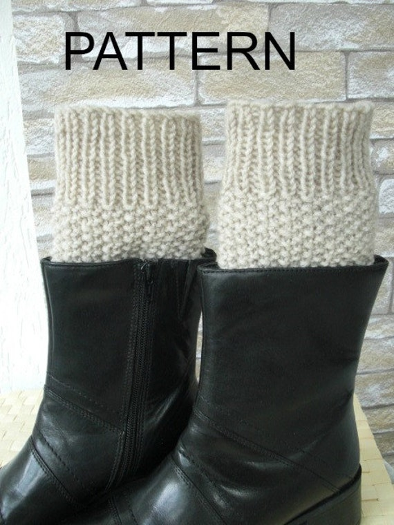 Instant Download Knitting Pattern Boot Cuffs Pattern Etsy