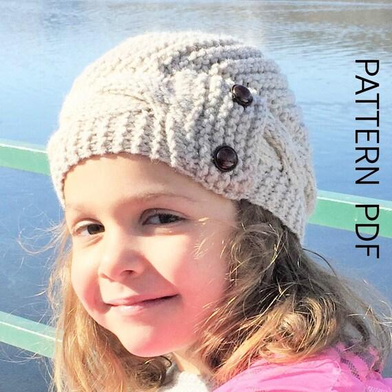 Knitting Pattern Hat Knit Hat Pattern 2 6 Years Old Girl Etsy