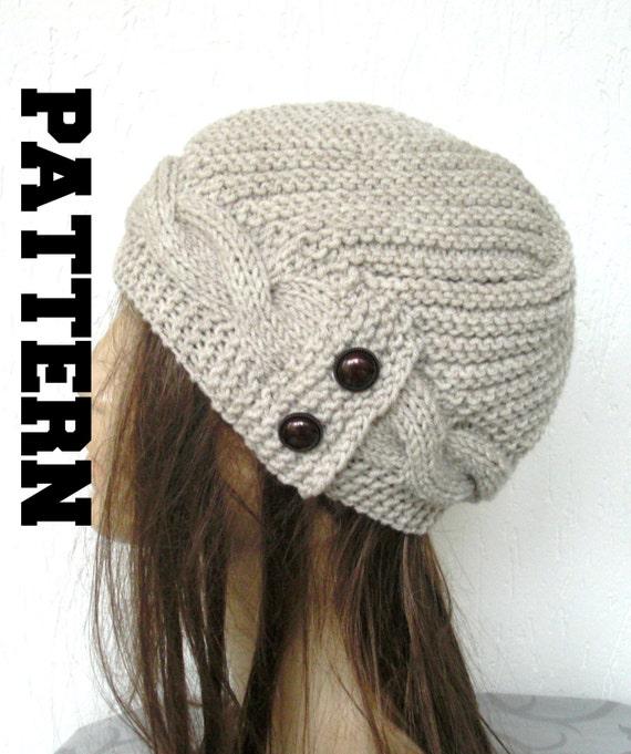 Stricken Sie Hut Muster Frau Winter Hut Muster Digital | Etsy