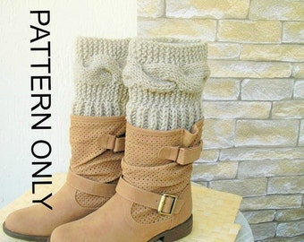 Boot Cuffs pattern DIY Knitting Pattern Instant Download Boot  Boot Toppers PDF Leg Warmers  Boot Cuffs    Boot Topper  Knit Pattern