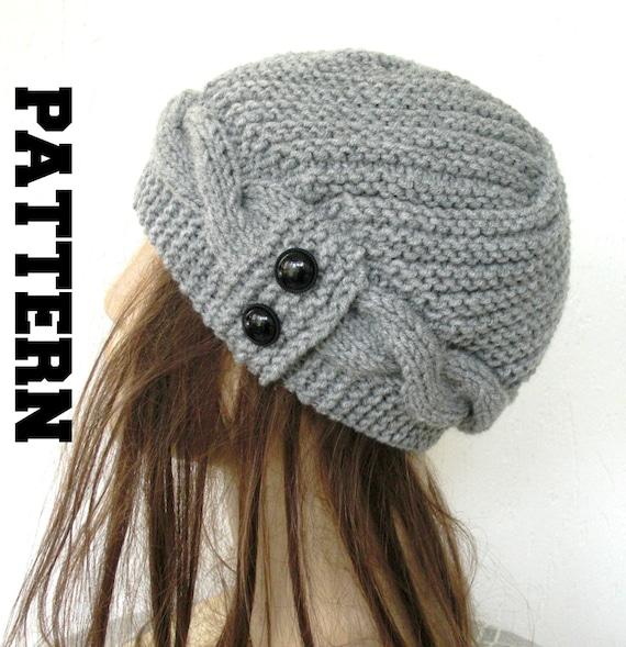 vente professionnelle divers styles choisir officiel Tricot modèle de chapeau pour les femmes PDF numérique instantané  Télécharger en maille chapeau patron du chapeau - chapeau de câble tricot  motif ...