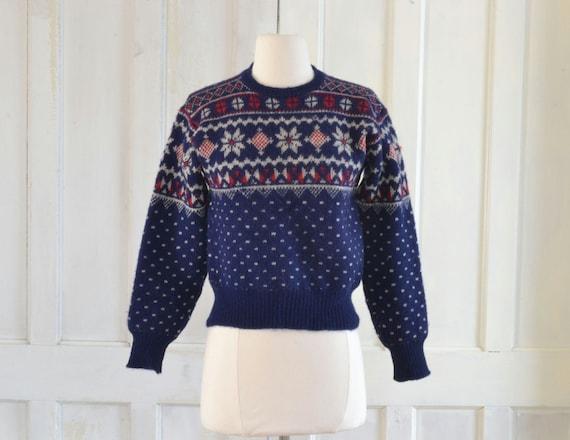 40s Vintage Jantzen Snowflake Sweater - 1940s Wool
