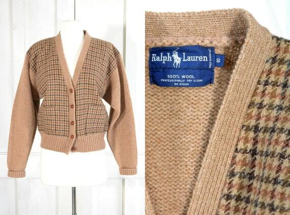 Vintage Ralph Lauren Sweater - Houndstooth Wool Ca