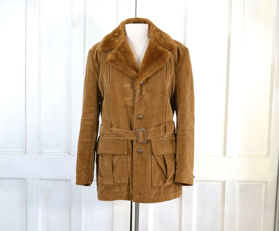Vintage 70s Westerfield Brushed Corduroy Coat - Fa
