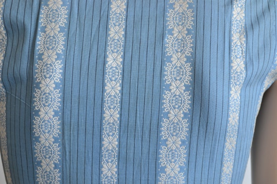 50s Dress - Sleeveless Cotton Shirt Dress - Full … - image 5