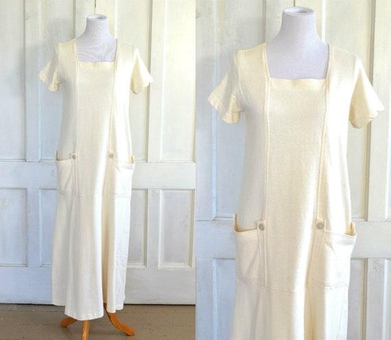 French Vanilla White Minimalist Long Dress - Cotto