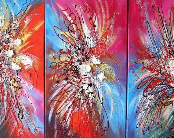 YINART Yin Lum Chinese new year lucky white cookes modern chinese abstract painting secret flower gardern dragon dance original large art