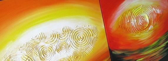 CASTLES sunset sunrise landscape contemporary original pop art painting
