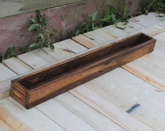 36 Inch Long pallet Box Made from Reclaimed Wood - Centerpiede or Planter