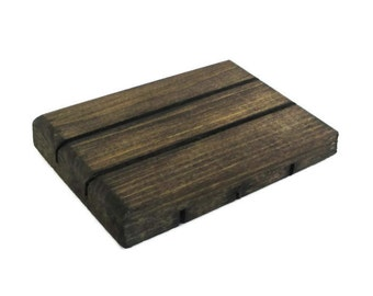 Wood Soap Dish - Rustic Bathroom or Kitchen Decor