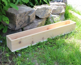Cedar Wood Planter Box - Large Outdoor Planters - Wooden Boxes