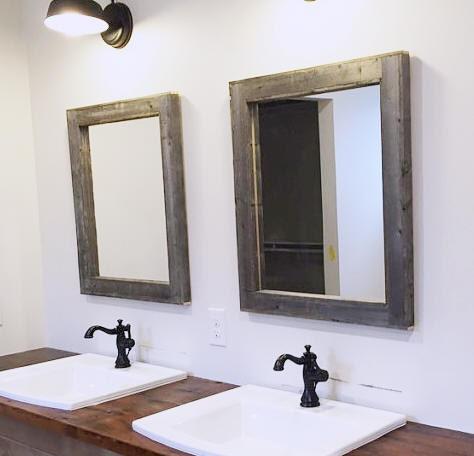 Reclaimed Wood Bathroom Mirror.  F0 9f 94 8ezoom