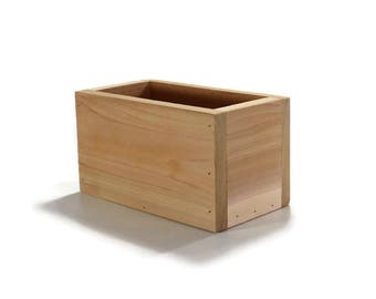 Small Cedar Planter - Centerpiece Box - Wooden Outdoor Planters - Wood Boxes