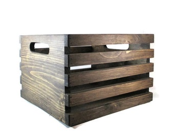 Square Crate - Wood Stackable Storage Crates. Great for Cubbies!