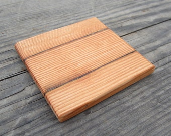 One Reclaimed Wood Coaster - Country Coasters - Wood Home Decor