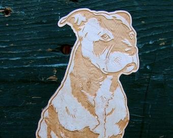 Custom pet portrait standee
