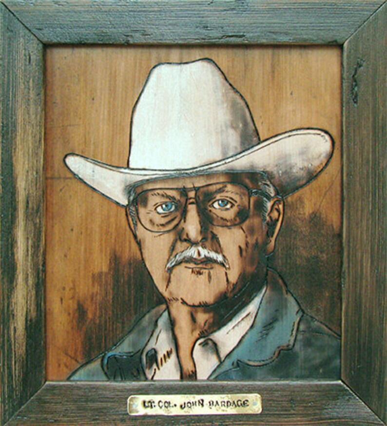 Custom woodburning portrait image 0