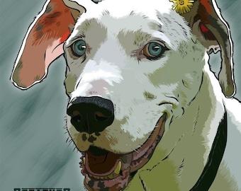 Custom pet portrait - digital print