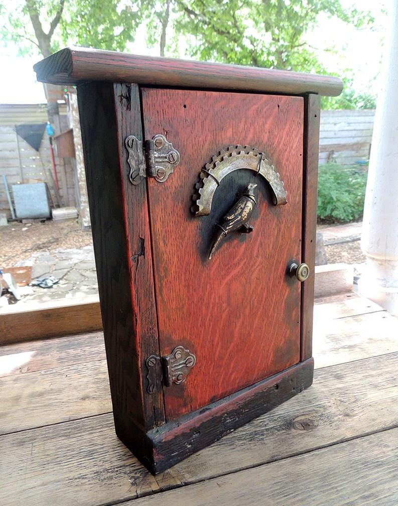 Reclaimed Oak Spice Rack Cabinet image 0