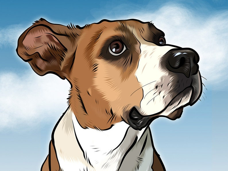 Custom pet portrait  digital print image 0