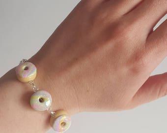 Rainbow Swirl Donut Bracelet