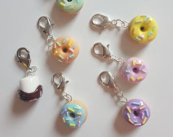Mini Donut or Marshmallow Charms - Travellers Notebook Charm / TN Charm / Zipper Pull
