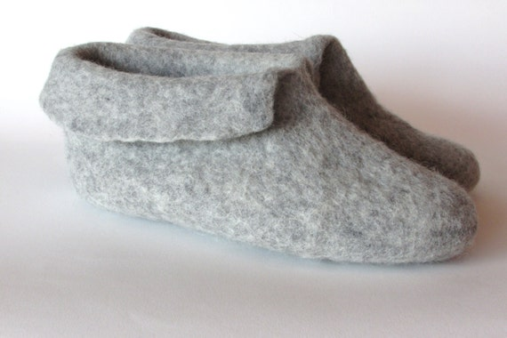 Felted men shoes shoes women booties home grey natural felted felt wool slippers home slippers slippers boiled wool slippers 6rrqIT