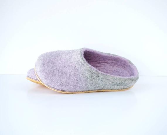 wool Felted slippers soft felt handmade slippers men slippers backless slippers clogs lavender women slippers wool slippers 1E7UxEwrq