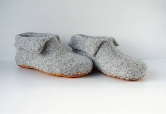 women home wool natural booties Felted slippers men slippers wool felted grey felt shoes slippers home boiled slippers shoes 1qXccWAwfx