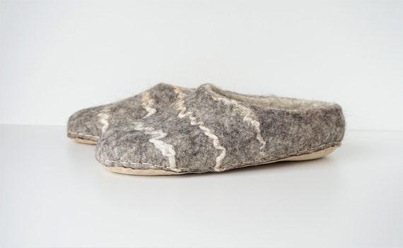 chaussons feutr hommes en laine chaussures Laine pantoufles pantoufles pantoufles feutre Accueil main bio 647vvwqd