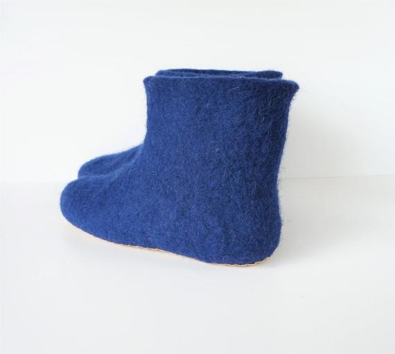 wool wool women felt Felted felted men booties natural slippers slippers booties wool slippers slippers home felted navy blue 6ffxXB