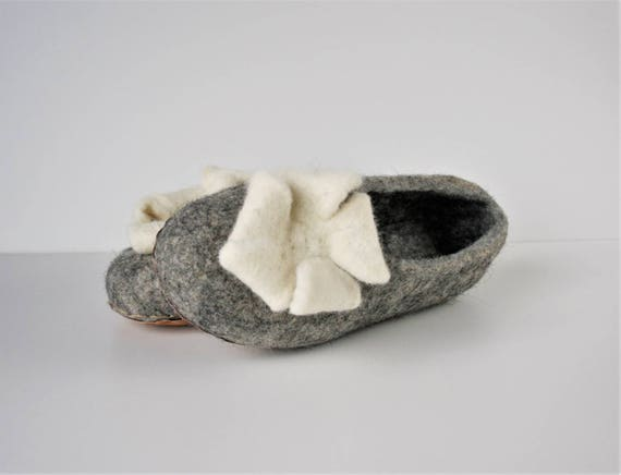 grey wool slippers slippers handmade slippers wool slippers felt women natural slippers Felted house slippers shoes organic clogs eco 6FSxEwS1q