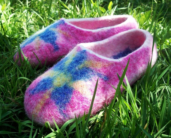 slippers slippers pink slippers slippers felt shoes slippers Order white house men to handmade slippers wool wool Made Felted women blue xCgqwSxp