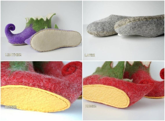 backless Felted slippers felt slippers handmade slippers clogs women soft lavender men slippers slippers slippers wool wool 585Aqra