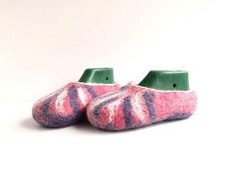Ready to ship Felted kids slippers, felt wool slippers, kids felt shoes,size US 12,5, Eur30, UK 11,5