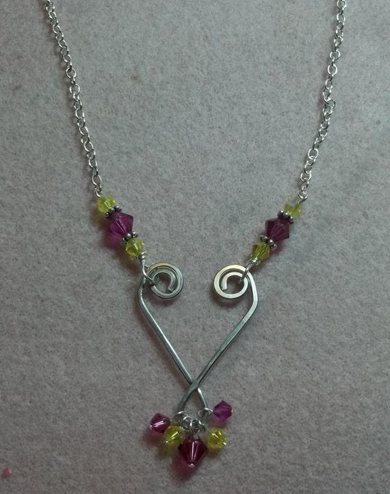Wire Heart Necklace Tutorial PDF Pattern INSTANT DOWNLOAD   Etsy