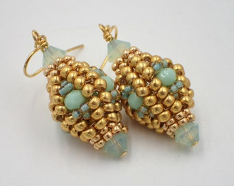 Herringbone Lantern Earrings PDF Jewelry Making Tutorial (INSTANT DOWNLOAD)