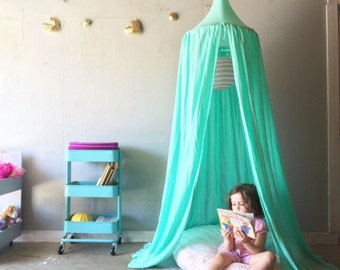 Play Canopy - Made in USA - Mint - Hanging Play Tent - Free Shipping - Made to Order