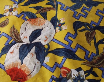 """Vintage Ralph Lauren Fabric 10 metres. 45"""" Wide - GINGER PEACH in YELLOW. Rare Fabric. Super Soft Sateen.  Amazing Quality"""