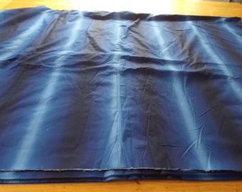 Ralph Lauren Blue Banded / Graduated Fabric. Ombre. Bedding. 13 Metres Extra Wide 2.8 metres.