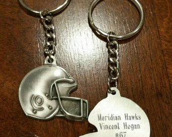 7f6f49d07aff4 Personalized Football Keychain
