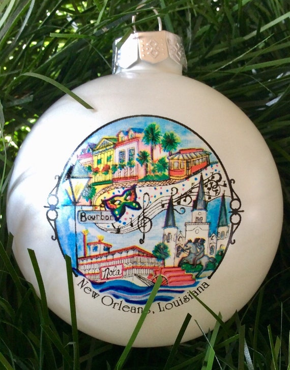 New Orleans Christmas Ornaments.New Orleans Christmas Ornament