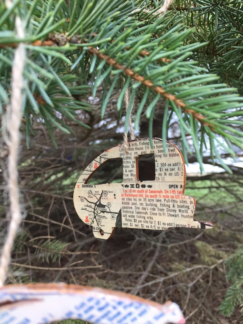 1 Tent Or Camper Christmas Tree Ornament United States 4 Etsy