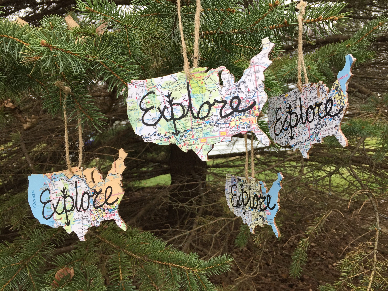 1 Explore Christmas Tree Ornament United States USA shaped ...