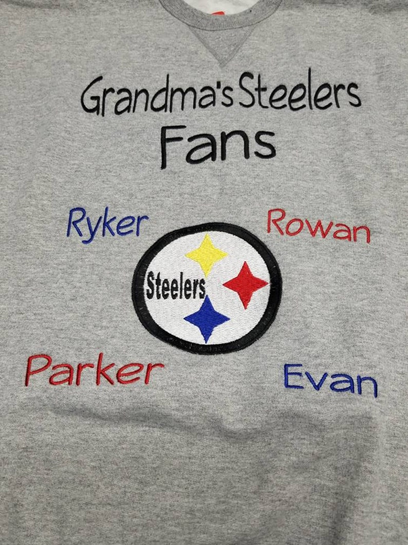 timeless design 40086 c3a95 Pittsburgh Steelers Fan Shirt, Grandpa's Personalized Steelers shirt,  Personalized Football shirt, Grandparents Gift, Mimi, Nana, Gigi