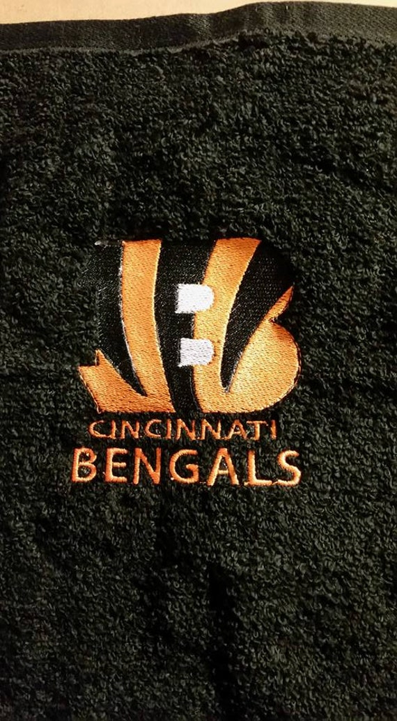 24d175b3 Cincinnati Bengals Football Towel Set Personalized, Personalized Football  Sports Team Bath Sets, Embroidered Bath Towels **FREE SHIPPING**