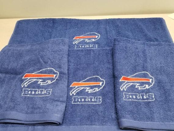 Bills Personalized 3 Piece Bath Towel Set Football Bills Your Color Choice